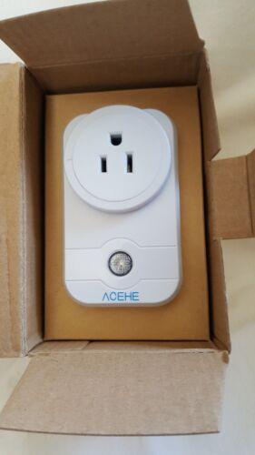 Wifi Smart Timing Plug Socket, ACEHE Wireless Outlet Socket Turn ON/Off...