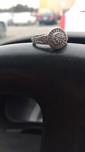 Peoples 10k white gold .5ct Diamond engagement ring