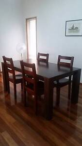 Dining table with set of 4 chairs Sylvania Sutherland Area Preview