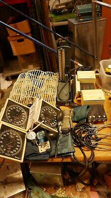 Lot Of Welch Allyn Tycos Baumanometer Sphygmomanometers Baskets Cuffs Stethoscop