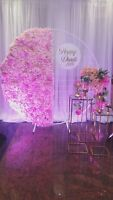 Rent this beautiful Backdrop package for your next event!
