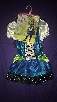 Girls halloween costume - Blue Butterfly Size M(8-10) NWT - Girls Blue Butterfly Costume