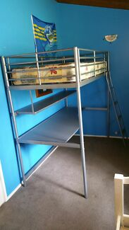 Bunk Bed with mattress and desk Bowen Mountain Hawkesbury Area Preview