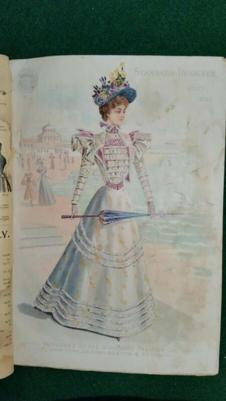 The Standard Designer July 1897 Magazine of Fashions Fancy Work & Millinery