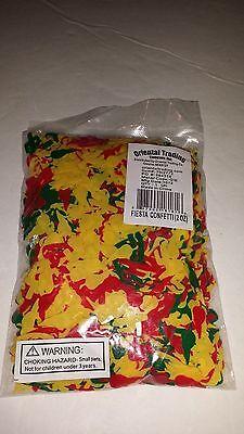 FIESTA CONFETTI 2 OUNCE BAG Plastic confetti Yellow, Red & Green CINCO DE MAYO (2 Ounce Plastic Bag)