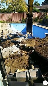 Excavator hire, landscaping, rock breaking, concrete removal South Wentworthville Parramatta Area Preview