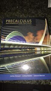 Precalculus textbook seventh edition, bought new in July