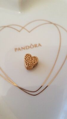 ORIGINAL PANDORA ELEMENT*SHINE HERZ * FILLED WITH ROMANCE Charm *767155 ()