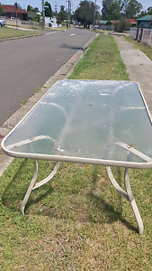 Free outdoor glass top table Whalan Blacktown Area Preview