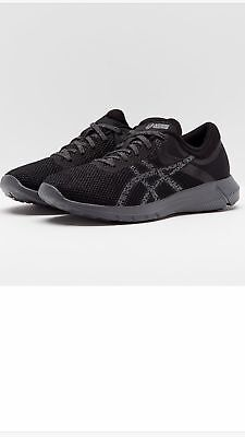 Women's Asics Nitrofuze 2 Black Carbon Running Sports Gym Shoes Trainers UK...