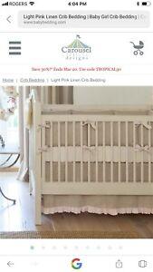 Crib skirt for a baby girl