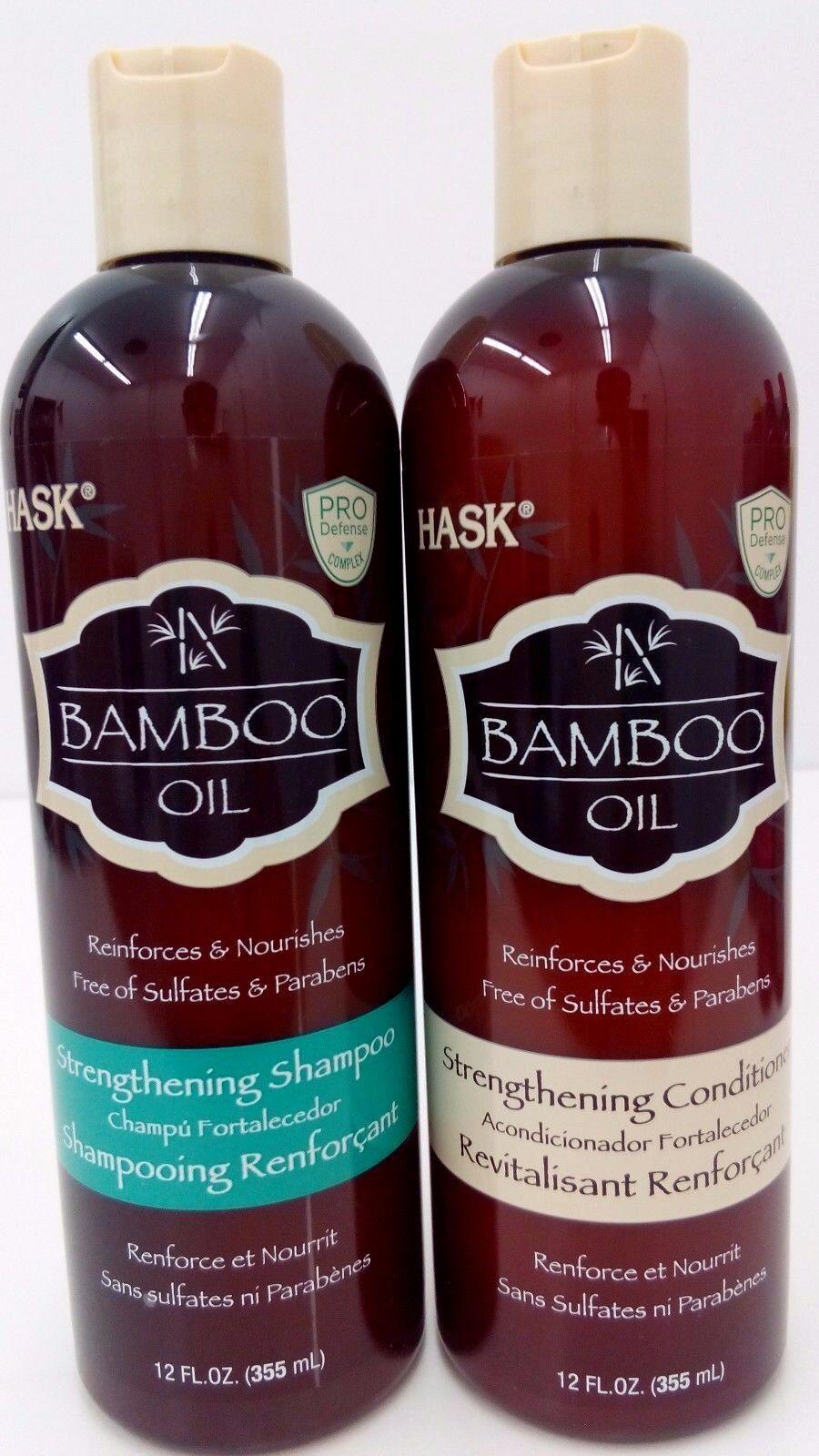 Hask Bamboo Oil Strengthening Shampoo, 12 Oz