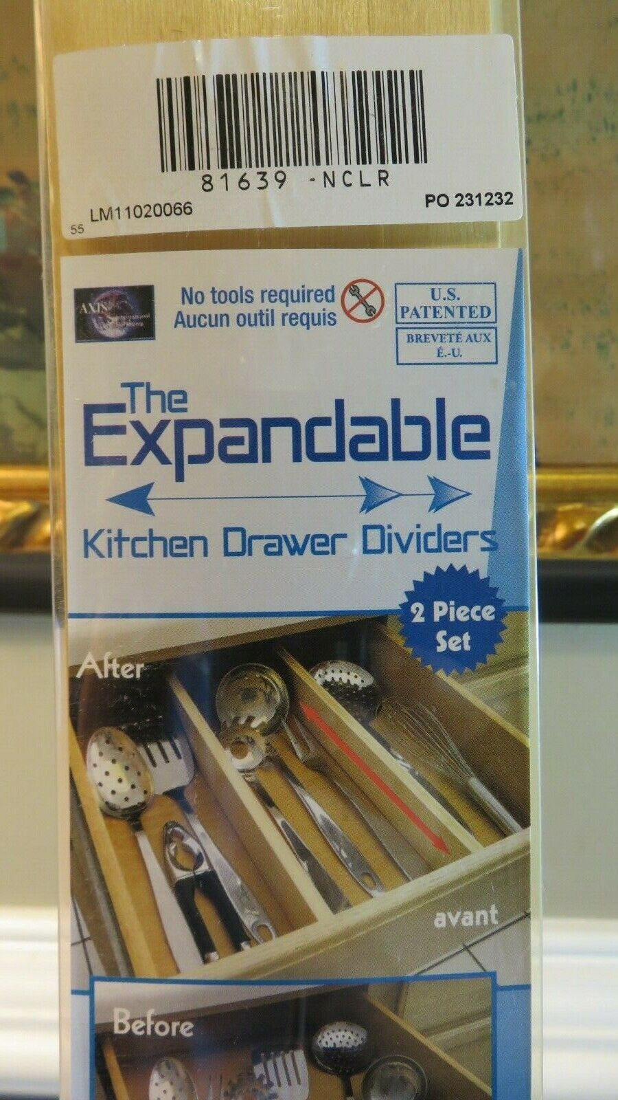Quality Hardwood Kitchen Drawer Dividers and Organizer, 2 pc