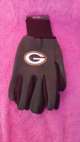 Green Bay Packers Gloves Sports Logo Utility Work Gloves NEW