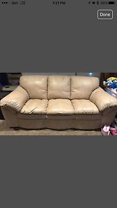 Modern Leather Couch (1pc) * REDUCED*