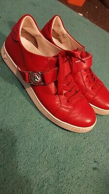 Versus Versace Red Trainers Size 4 Lion Strap