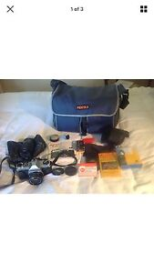Pentax K1000 kit. With 200mm lens and 80mm Redfern Inner Sydney Preview