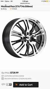 """19"""" wheels,konig,pre Ve wheels, mags,new tyres,offers Redcliffe Redcliffe Area Preview"""