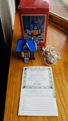 Century Classics Illuminated Stained Glass Collectible Candymakers Cottage
