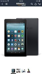 """Amazon fire table 7. 7"""" display 8gb, Black with case"""