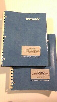 Tektronix 492492p Spectrum Analyzer Service Manual Vol. 1 Vol. 2 Sn B030000up