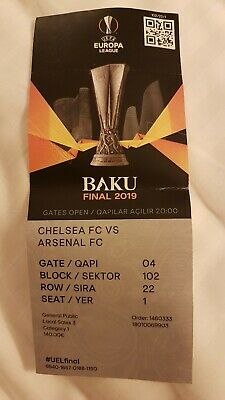 TICKET COLLECTORS FINAL 2019 BAKU CHELSEA  - ARSENAL WITH NAMES