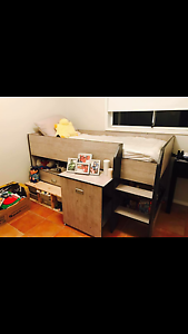 Immaculate Bunk Bed mattress and mattress protector Alfords Point Sutherland Area Preview