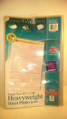 17 Legal Size 8-12 X 14 Heavy Weight Sheet Clear Protectors. P21