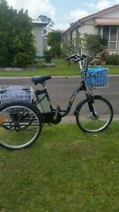 "Electric Trike Bike Black 24"" wheels suit male or female."