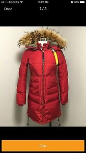 Red Parajumper Long Bear Parka size small