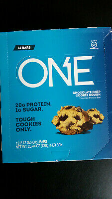 ONE Protein Bars Chocolate Chip Cookie Dough, 2.12 oz. bars (12 (Almond Raspberry Cookies)
