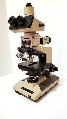 Olympus Bht Bh2 Trinocular Nomarski Dic Microscope With Neo S Plan Nic Objective
