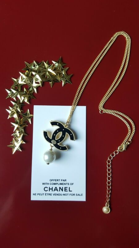 Chanel VIP Promo Dual Sided Necklace with Stamp