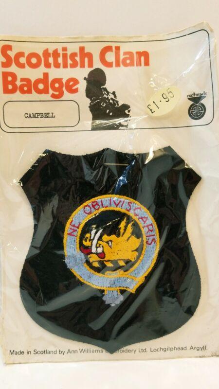 Scottish Clan Badge Ne Obliviscaris Campbell Family Crest Patch