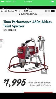Titan performance airless paint sprayer both models 460e &560e