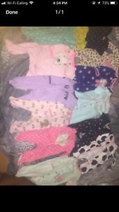 Preemie - 3 month- girl sleepers/clothes