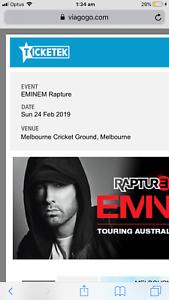 Eminem Melbourne Rapture tour tickets