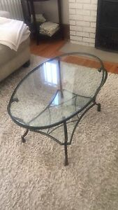 Pier 1 Glass Coffee Table