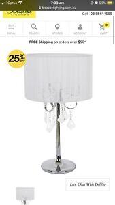Beacon lighting chandelier Paris chrome lamp x2