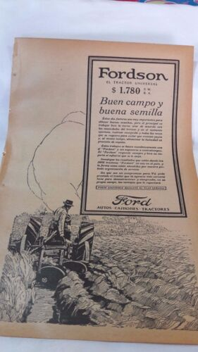 1924 -  PAPER AD Fordson -  Argentina,  in Spanish  (Canada)