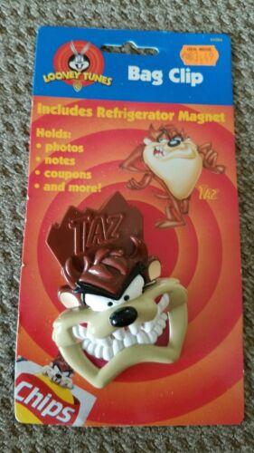 Vintage Taz Tasmanian Devil Bag Clip Magnet Looney Tunes 1997 Warner Bros 04084