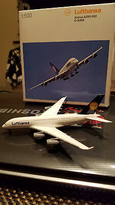 Herpa 1:500 Airbus A380-800 Lufthansa for sale  Wheeling