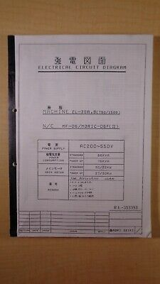 Mori Seiki Zl-35a B 750 1500 Electrical Circuit Diagram Rl-313393 7d B4