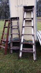 Old wooden ladders Greta Cessnock Area Preview