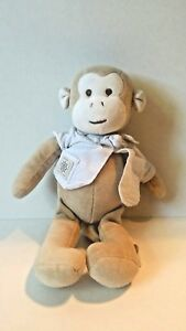miYim Simply organic monkey brown tan cream plush lovey stuffed animal baby toy