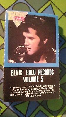 ELVIS PRESLEY ~ GOLD VOLUME 5 ORIGINAL 1984 RCA CASSETTE TAPE Victor AFK 4941