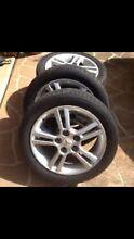 "4 VRX Lancer Alloys & Tyres 16"". 5 stud. Ingleburn Campbelltown Area Preview"