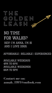 The Golden Leash | Dog Walking Service