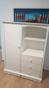 Pending pick up: Boori solid white wardrobe drawers shelves