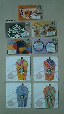 Starbucks Card 2018 Summer Frappuccino Hugs Birthday Glasses Braille Siren